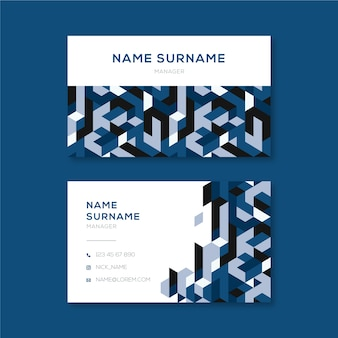 Abstracte blauwe stijl voor sjabloon voor visitekaartjes