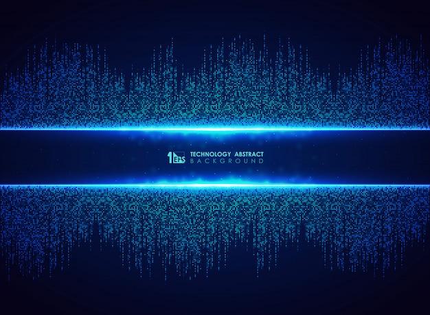 Abstracte blauwe technische achtergrond