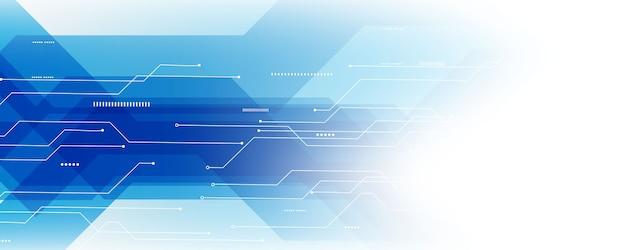 Abstracte blauwe technologie communicatie concepten vectorachtergrond