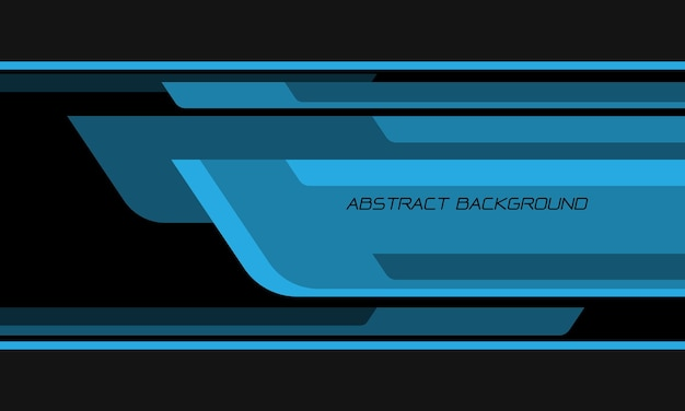 Abstracte blauwe toon zwarte geometrische overlappingssnelheid op donkergrijze moderne futuristische technische achtergrond