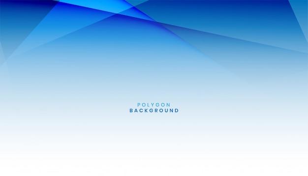 Abstracte blauwe veelhoek achtergrond