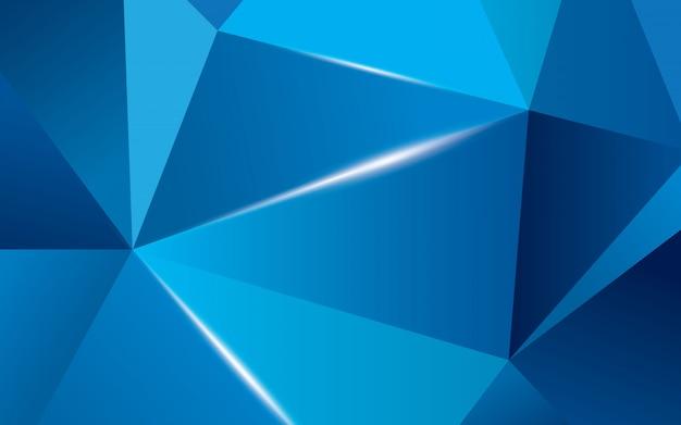 Abstracte blauwe veelhoekige geometrische driehoek achtergrond