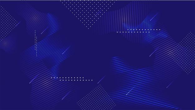 Abstracte blauwe vloeistof kunst geometrische strepen achtergrond.