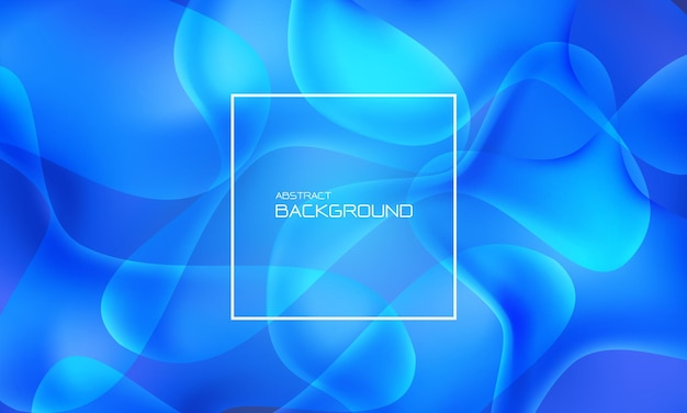 Abstracte blauwe vloeistof vloeibare geometrische ontwerp creatieve technologie futuristische achtergrond vector