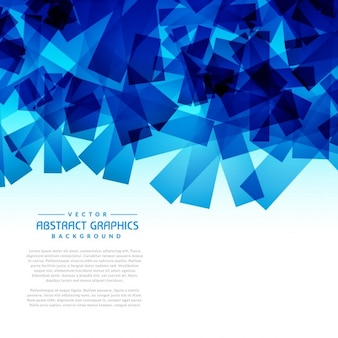 Abstracte blauwe vormen grafische achtergrond