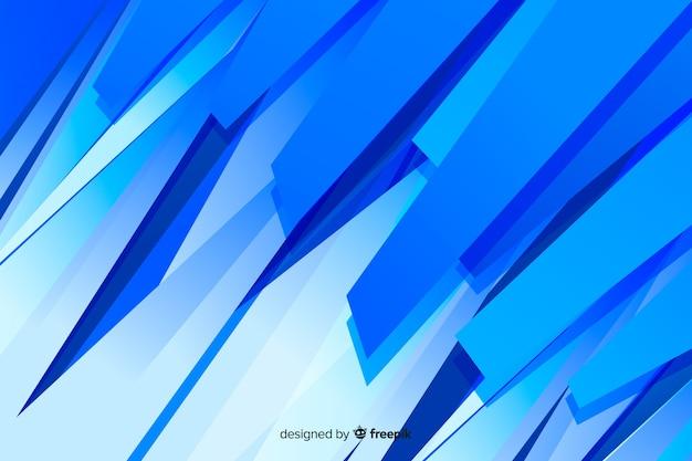 Abstracte blauwe vormen minimalistische achtergrond