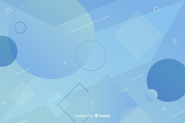 Abstracte blauwe vormenachtergrond in de stijl van memphis
