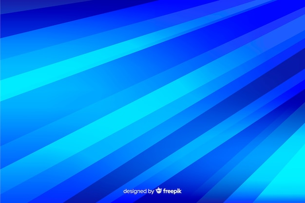 Abstracte blauwe vormenachtergrond met lijnen
