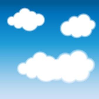 Abstracte blauwe wolk achtergrond afbeelding.