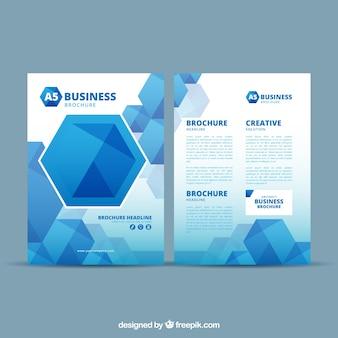 Abstracte blauwe zakelijke brochure sjabloon