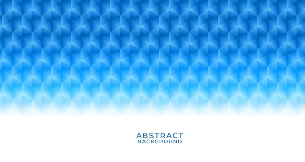 Abstracte blauwe zeshoekige patroonachtergrond