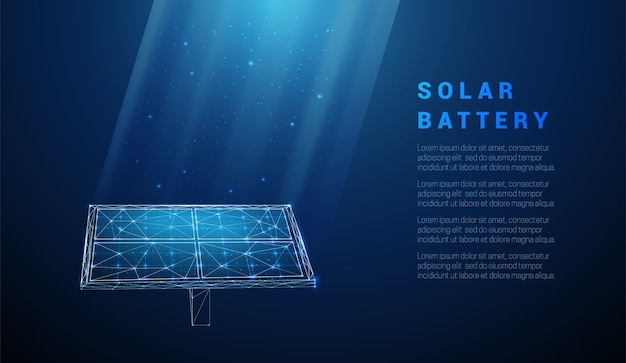 Abstracte blauwe zonnebatterij, zonnepaneel, hernieuwbare energie.