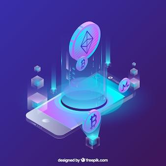 Abstracte blockchainachtergrond