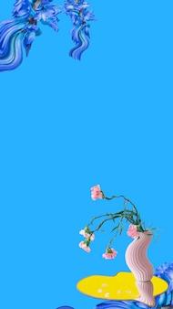 Abstracte bloem behang achtergrond vector