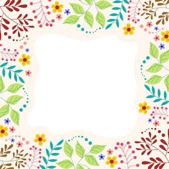 Abstracte bloem frame ornament achtergrond
