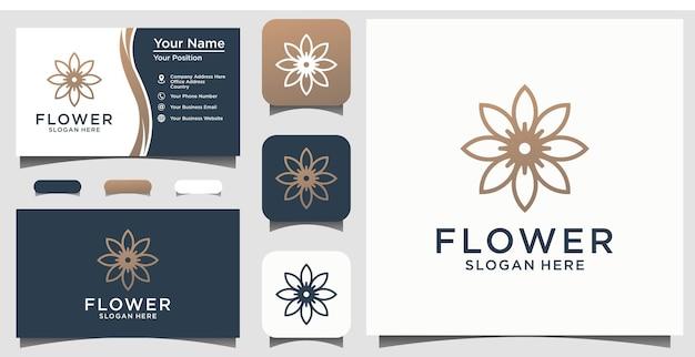 Abstracte bloem schoonheid logo universeel creatief symbool. sierlijk juweel boutique vector teken