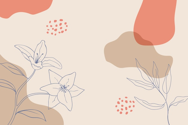 Abstracte bloemen minimale organische achtergrond
