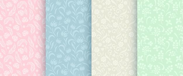 Abstracte bloemen naadloze patrooninzameling.