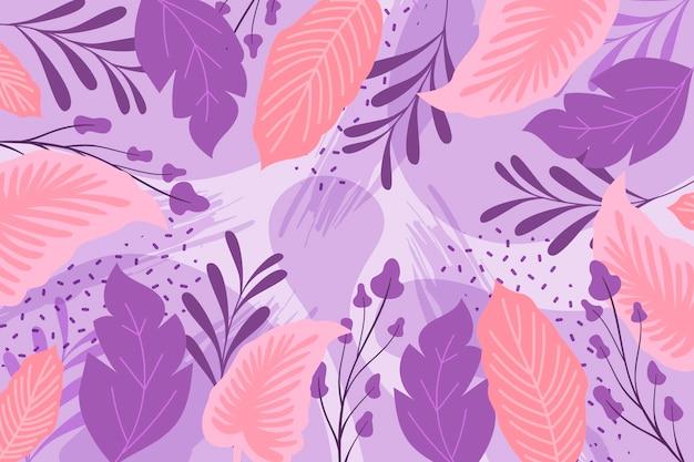 Abstracte bloemenachtergrond in vlak ontwerp