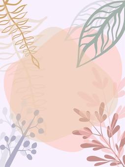 Abstracte bloemenachtergrond ontwerpelement voor wenskaart of huwelijksuitnodiging