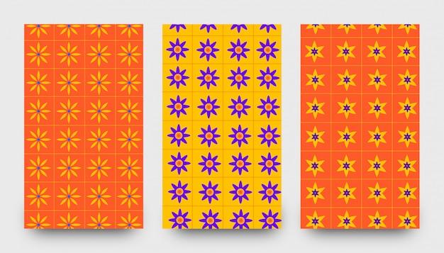 Abstracte bloempatroonachtergronden