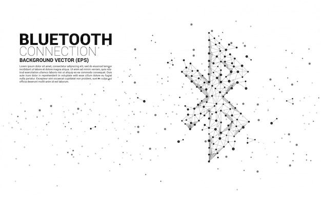 Abstracte bluetooth-verbindingsachtergrond