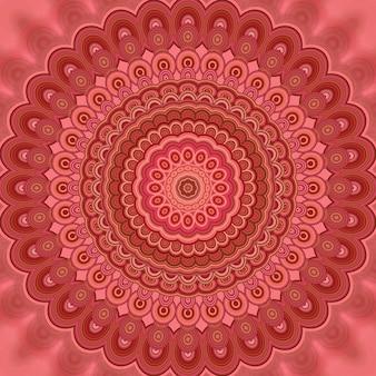 Abstracte boheemse mandala fractale achtergrond - ronde symmetrische vector patroon ontwerp van concentrische ovale vormen