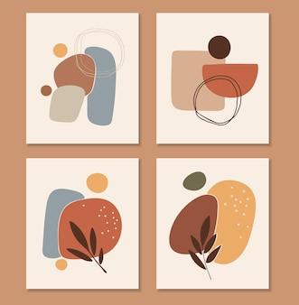 Abstracte boho vorm illustratie set