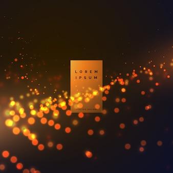 Abstracte bokeh deeltjes effect achtergrond met warme kleuren