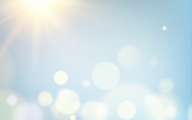 Abstracte bokehbellen op lichte achtergrond.