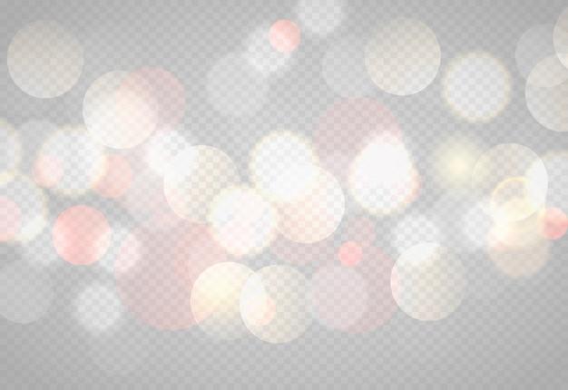 Abstracte bokehlichten met zachte lichte illustratie als achtergrond