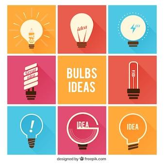 Abstracte bol idee iconen