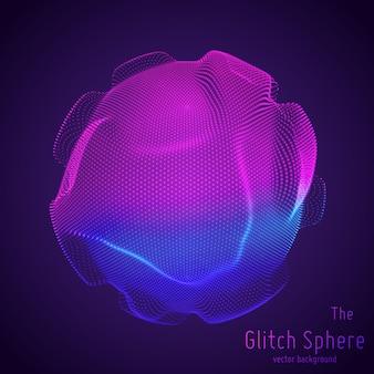 Abstracte bol van deeltjes