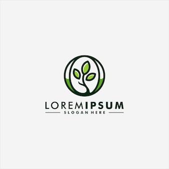 Abstracte boom blad logo vector pictogram ontwerp