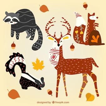 Abstracte bos dieren