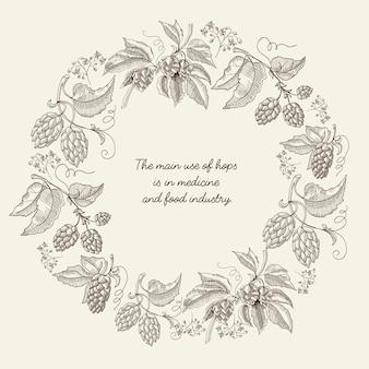 Abstracte botanische vintage sjabloon