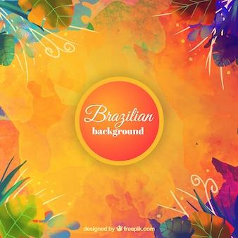 Abstracte braziliaanse carnaval achtergrond in kleurrijke stijl