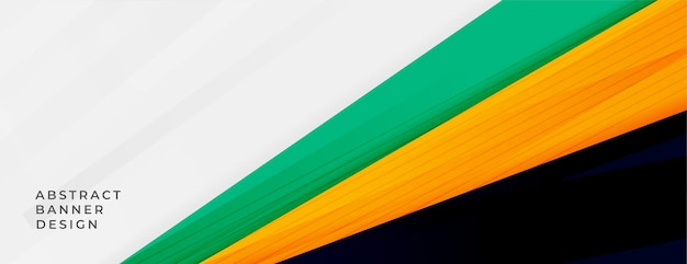 Abstracte brede banner met sportieve kleuren