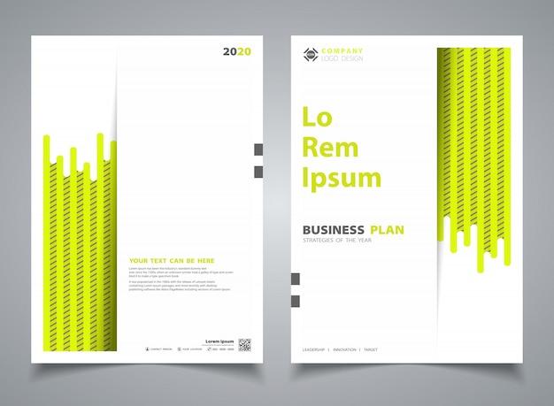 Abstracte brochure groen met streeplijn