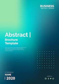 Abstracte brochuremalplaatje klaar om te drukken