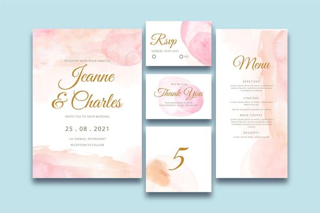 Abstracte bruiloft briefpapier