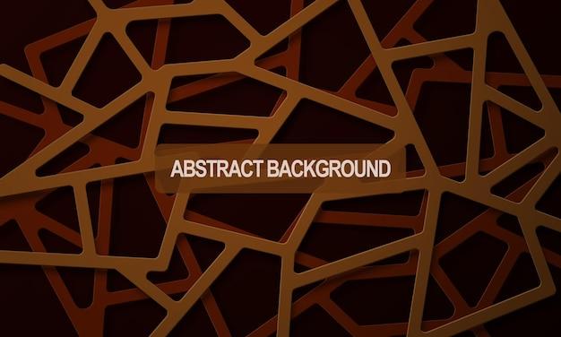 Abstracte bruine realistische lijnen overlappende laagachtergrond vectorillustratie