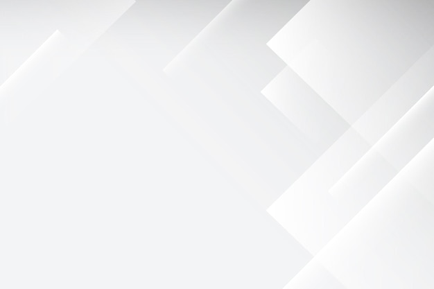 Abstracte bureaubladachtergrond, witte geometrische ontwerpvector