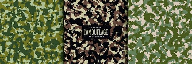Abstracte camouflage naadloze patronen instellen