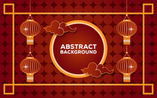 Abstracte chinese rode en gouden achtergrond