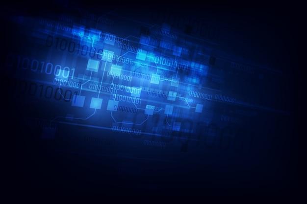 Abstracte circuit netwerken blockchain concept achtergrond