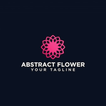 Abstracte cirkel bloem logo ontwerpsjabloon