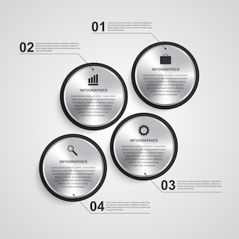 Abstracte cirkel infographic ontwerpsjabloon.