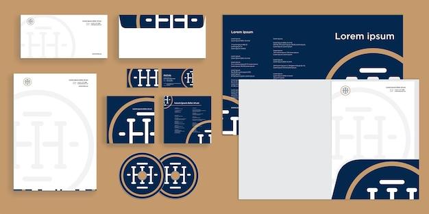 Abstracte cirkel luxe eerste logo moderne zakelijke identiteit stationair Premium Vector