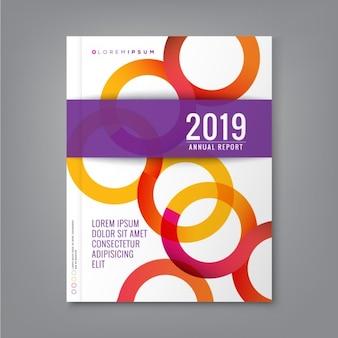 Abstracte cirkel ring vorm ontwerp op een witte achtergrond voor het bedrijfsleven jaarverslag boekomslag brochure flyer poster